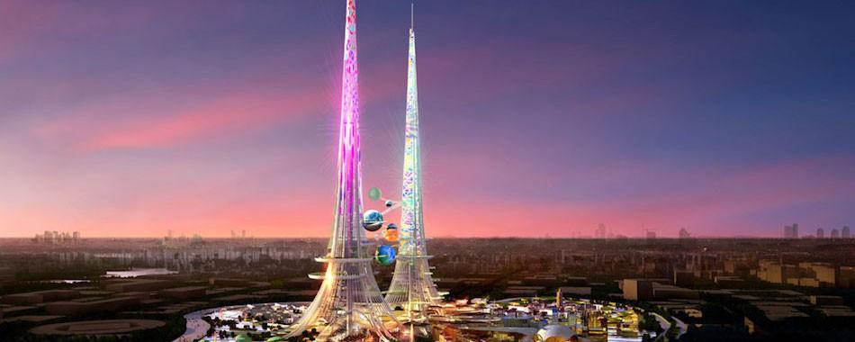 La plus haute tour du monde fera plus d un kilom tre - Hauteur plus grande tour dubai ...