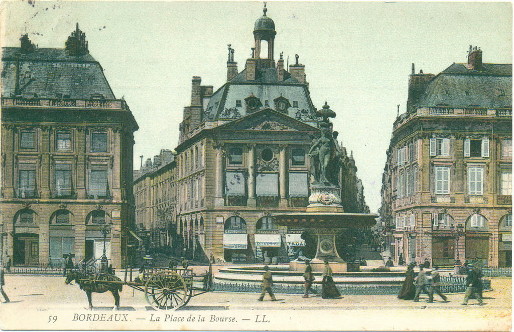 place de la bourse bordeaux old