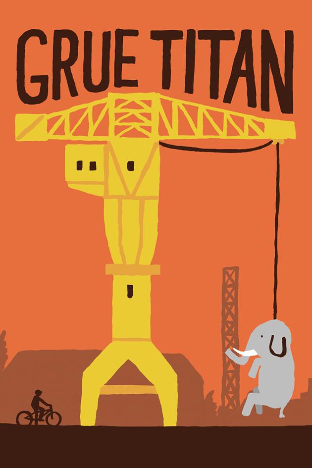 grue titan affiche jean jullien illustration nantes