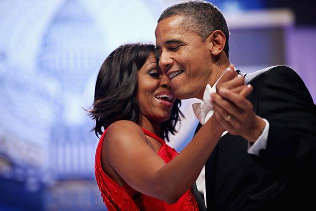 Barack et Michelle Obama amoureux
