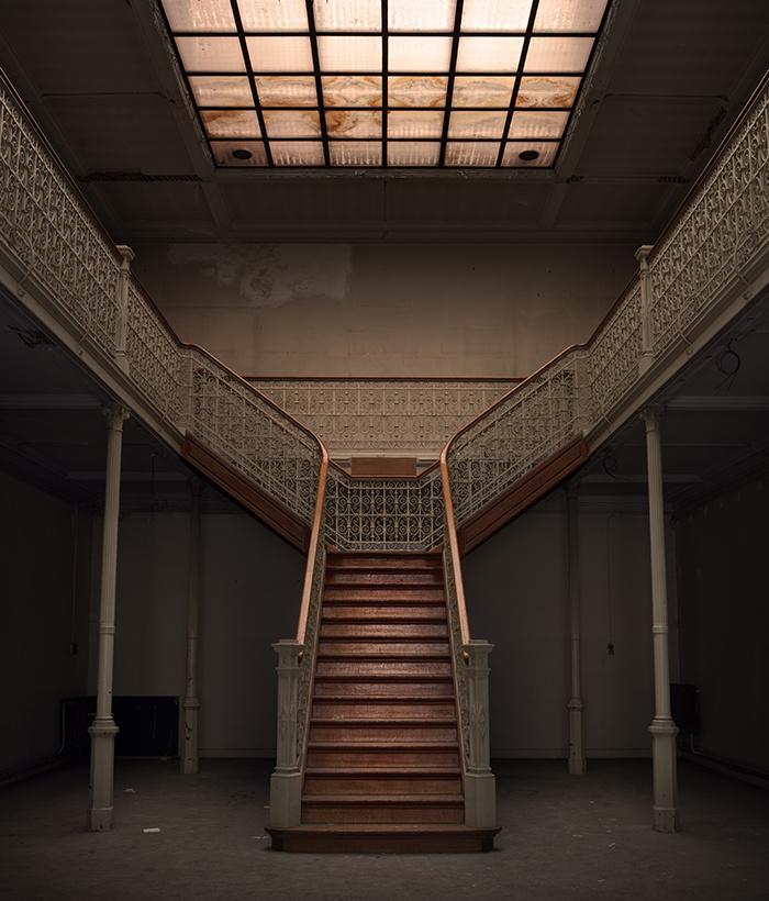lieux abandonnés dans le monde Belgique escalier