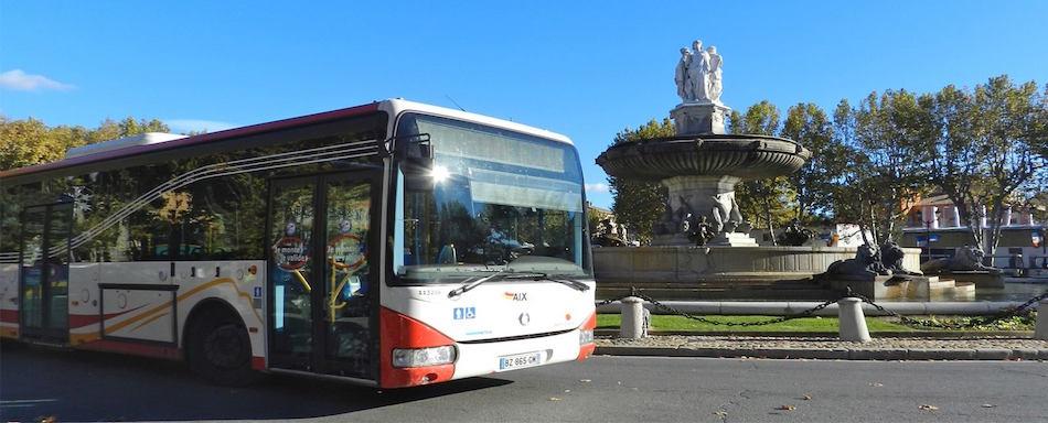 Aix en bus en gr ve perturbations pendant un mois for Horaire bus salon aix