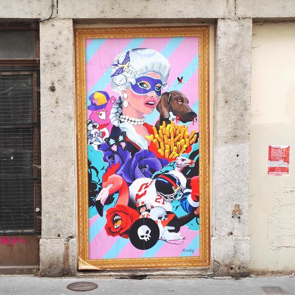 rauky, le street-artist le plus déjanté de lyon