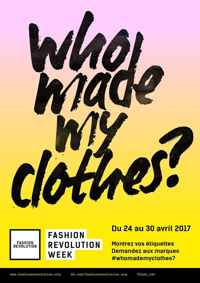 slogan, who made my clothes, Fashion Revolution, Nantes