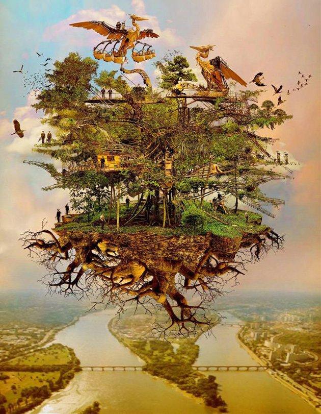 projet arbre aux herons machines de l ile nantes