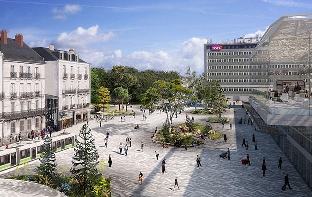 esplanade gare parvis projet