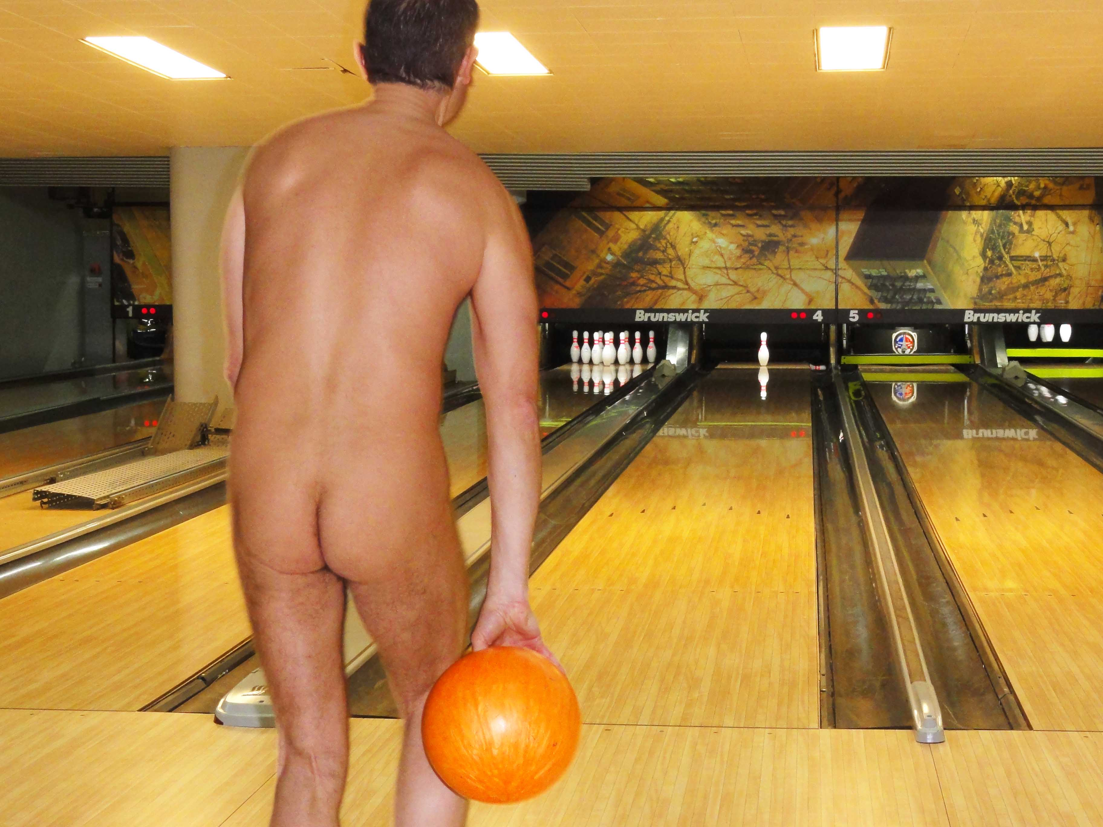 Naked bowling with glamorous and gorgeous girls