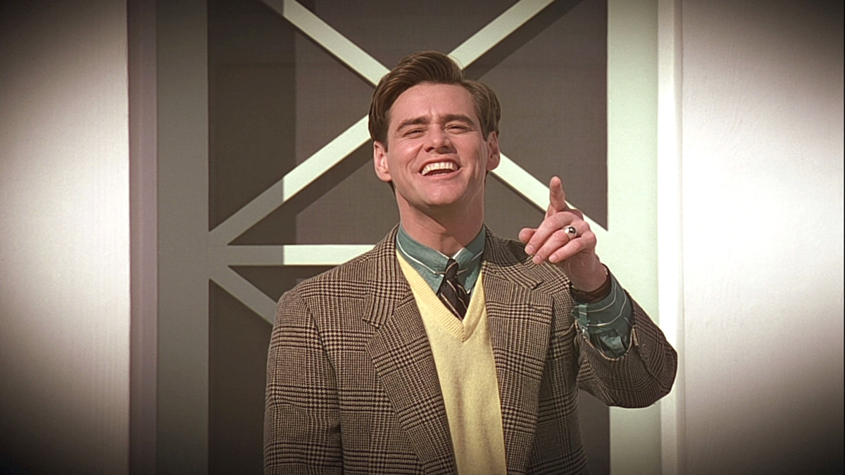 jim carrey, the truman show, charisme, le bonbon