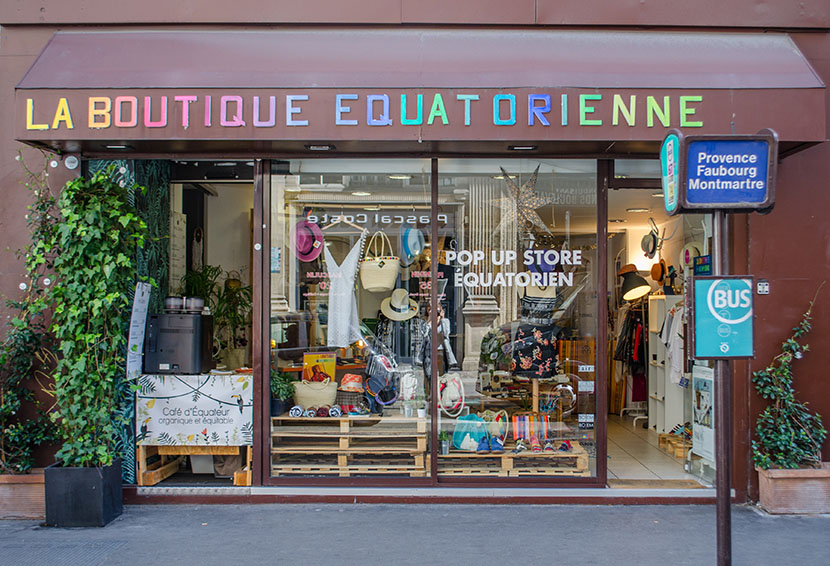 boutique equatorienne paris devanture