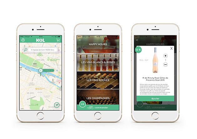 application KOL livraison alcool à domicile