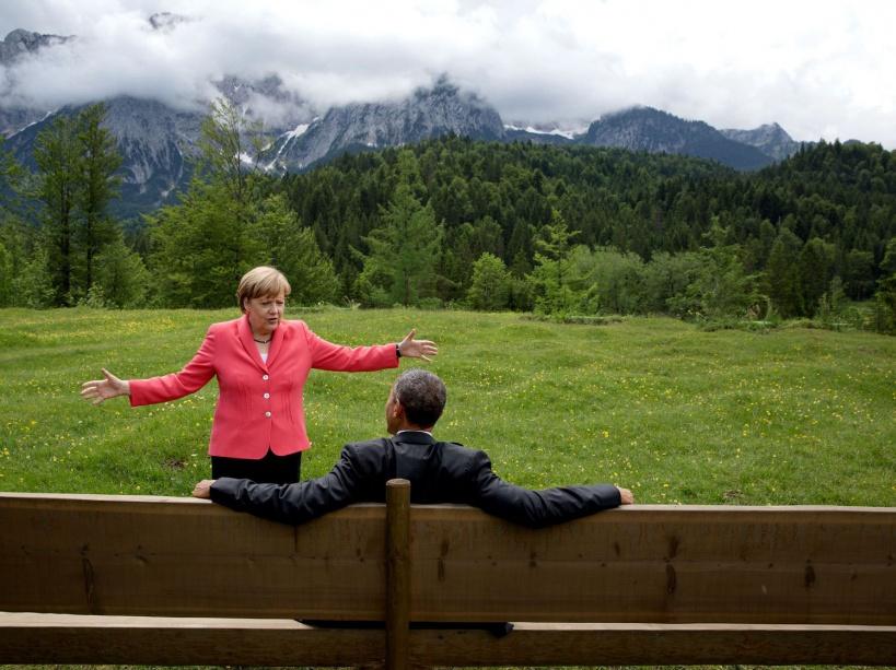 Avec Angela Merkel au G7 en Allemagne (08/06/15)