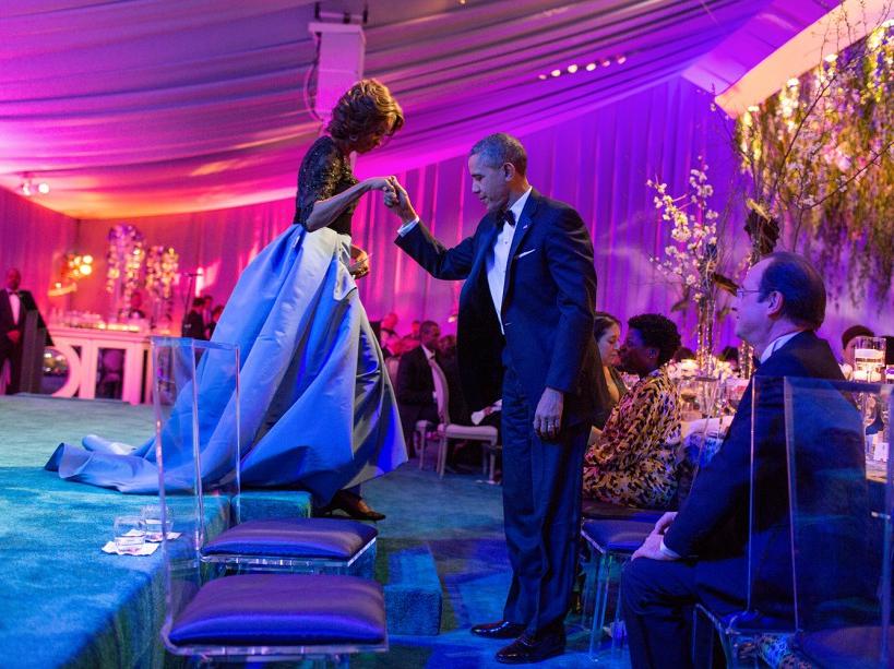Lors d'un dîner d'Etat en l'honneur de François Hollande (11/02/14)