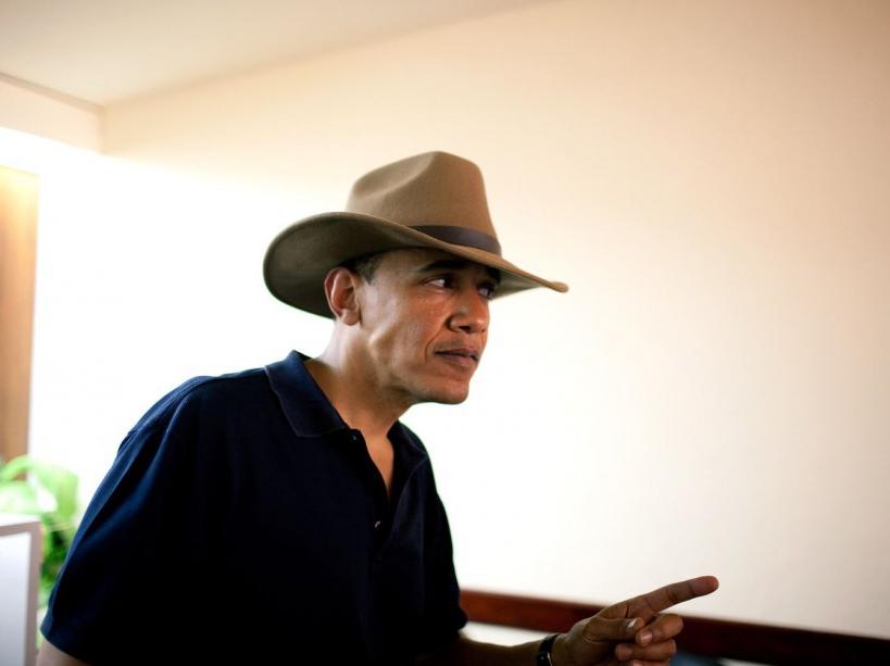 Un chapeau reçu en cadeau lors de sa visite en Egypte (04/06/09)
