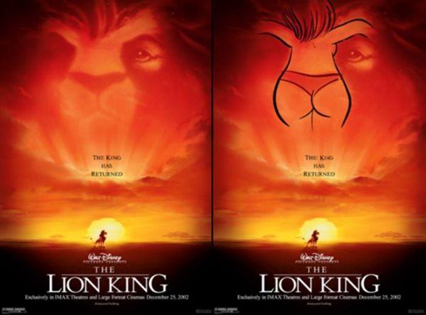 sexe-roi lion-affiche-femme