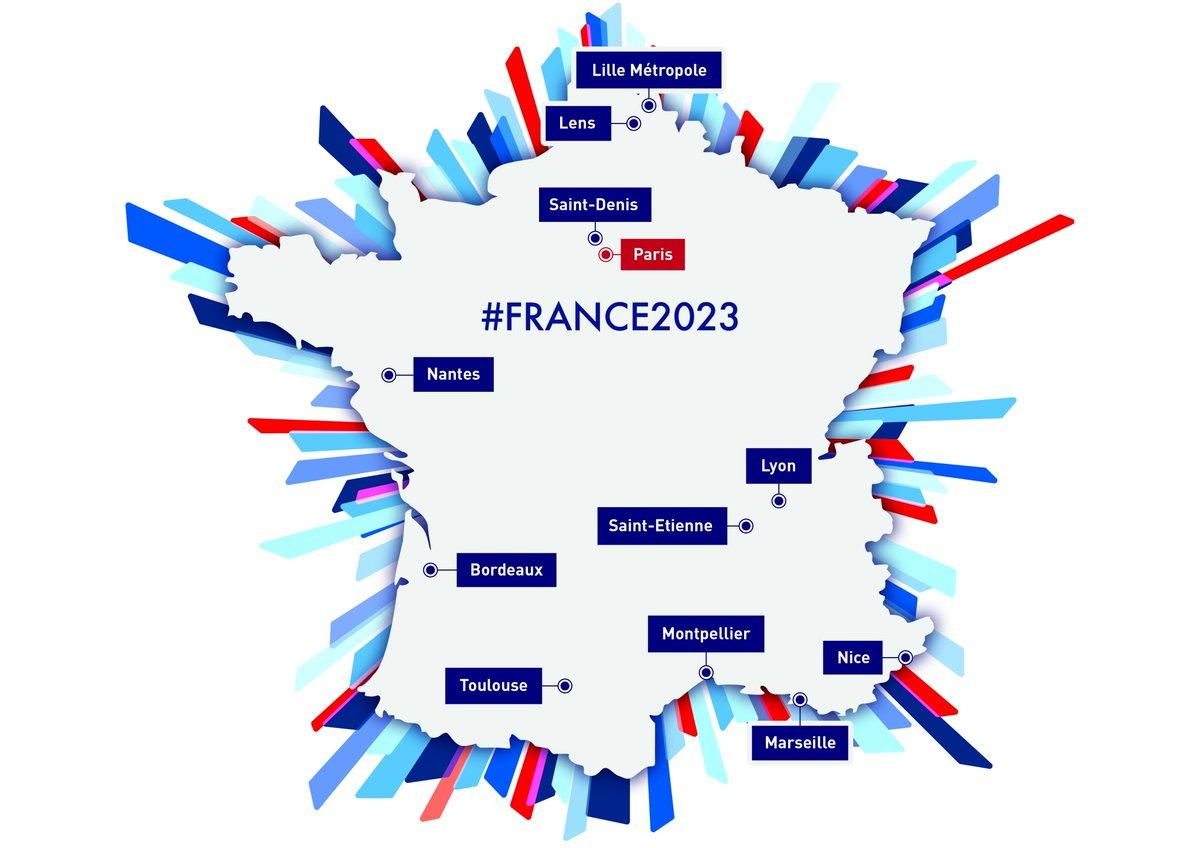 carte coupe du monde rugby 2023 villes hôtes