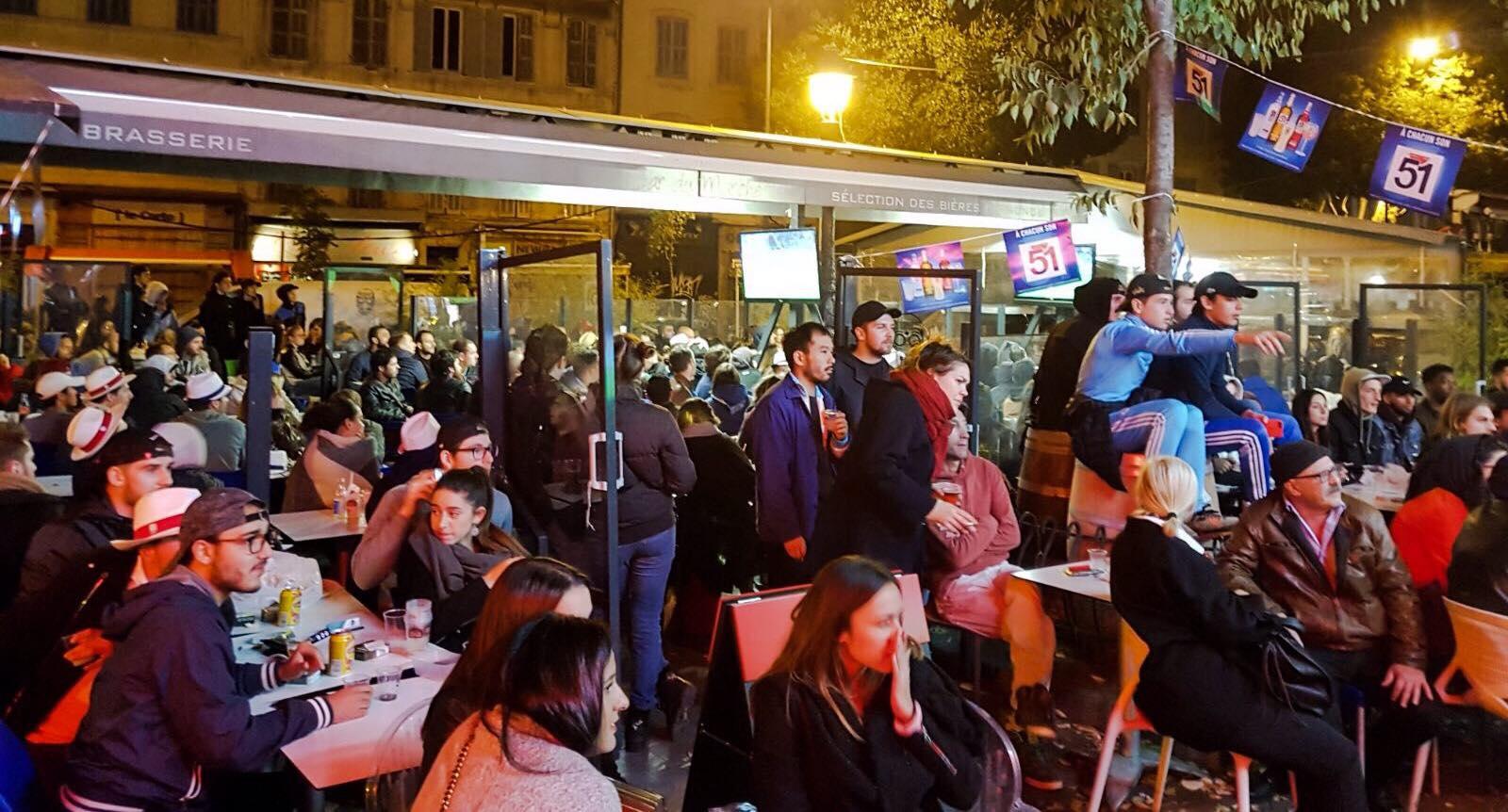 bar du marché Marseille match om