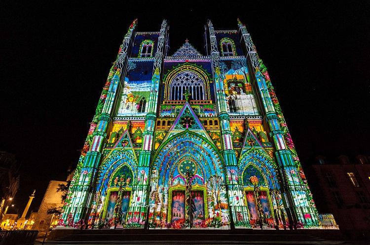 illumination cathedrale nantes