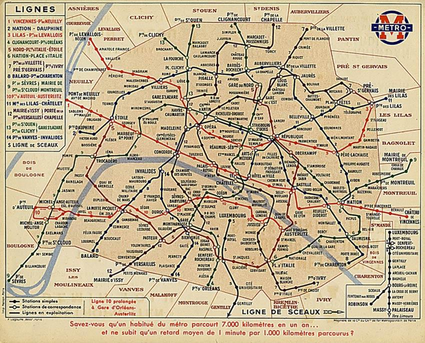 Le métro parisien de 1905 à aujourd'hui