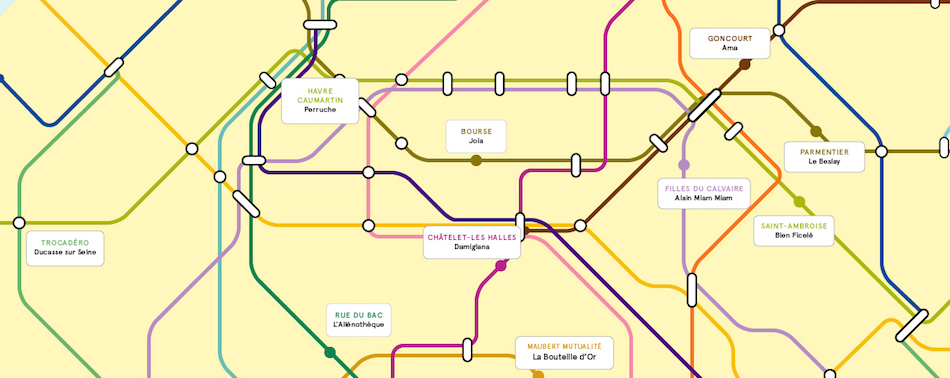 La carte du métro des nouvelles adresses food immanquables de la rentrée
