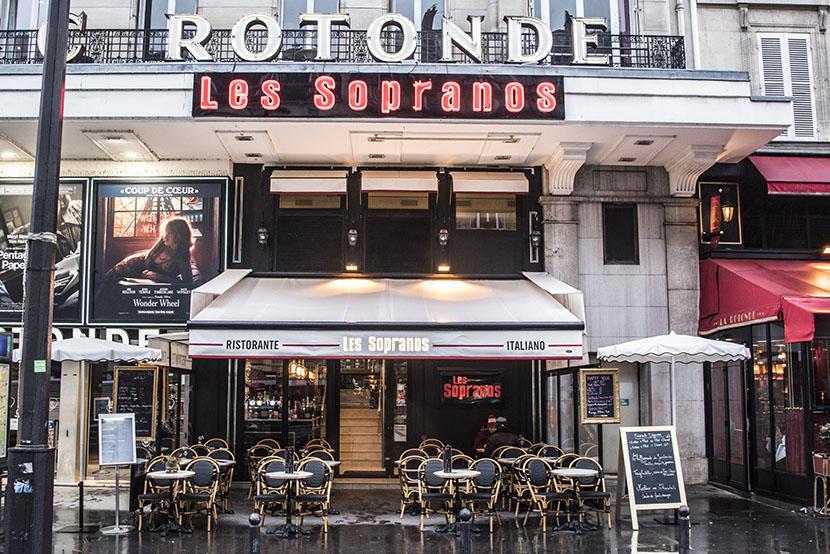 les sopranos restaurant italien paris montparnasse devanture