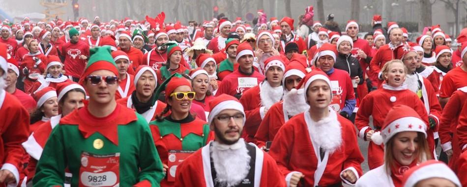 Une course géante de Pères Noël débarque à Paris