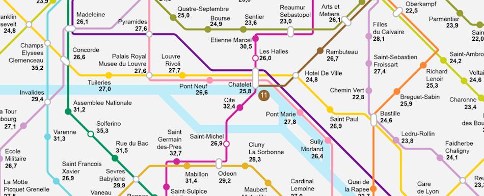 La carte des stations de métro où l'immobilier est le plus rentable