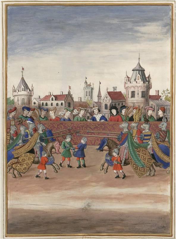 Découvrez les images de Paris au Moyen Âge ! By  Morgane Espagnet Miniature-joutes-1389-centrAe