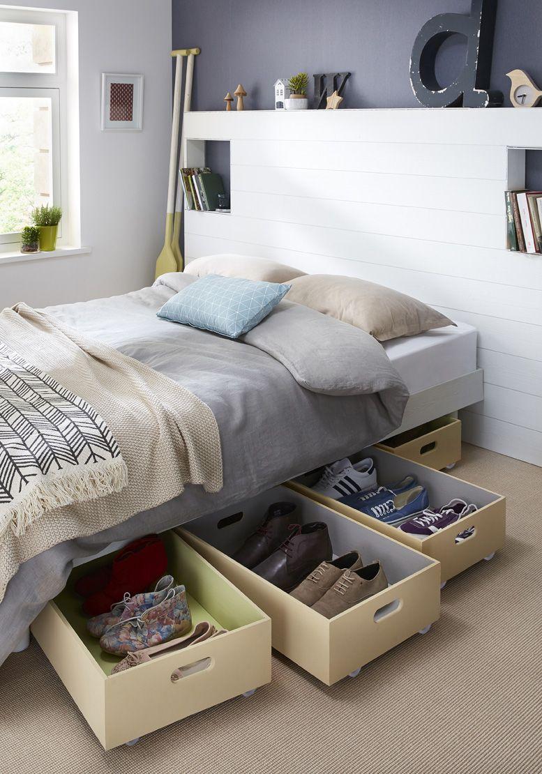 12 astuces pas ch res pour gagner de la place dans son petit appart. Black Bedroom Furniture Sets. Home Design Ideas