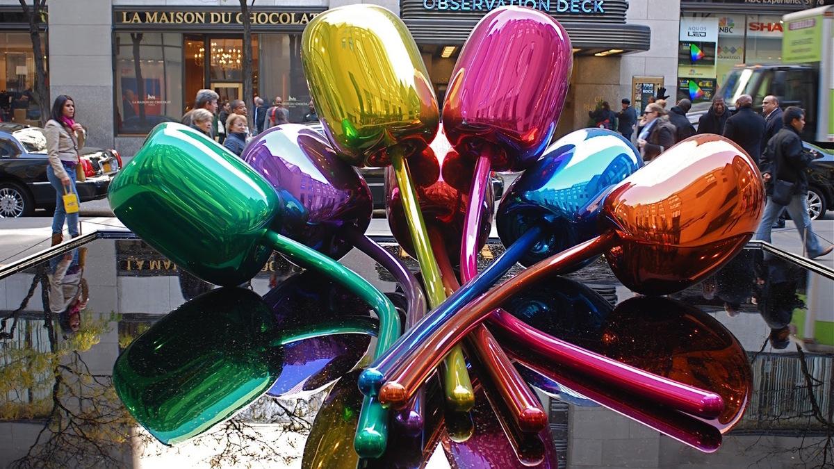 Les Tulipes de Jeff Koons débarquent sur les Champs-Elysées