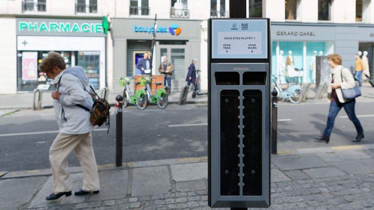 On peut désormais voter en jetant son mégot à Paris