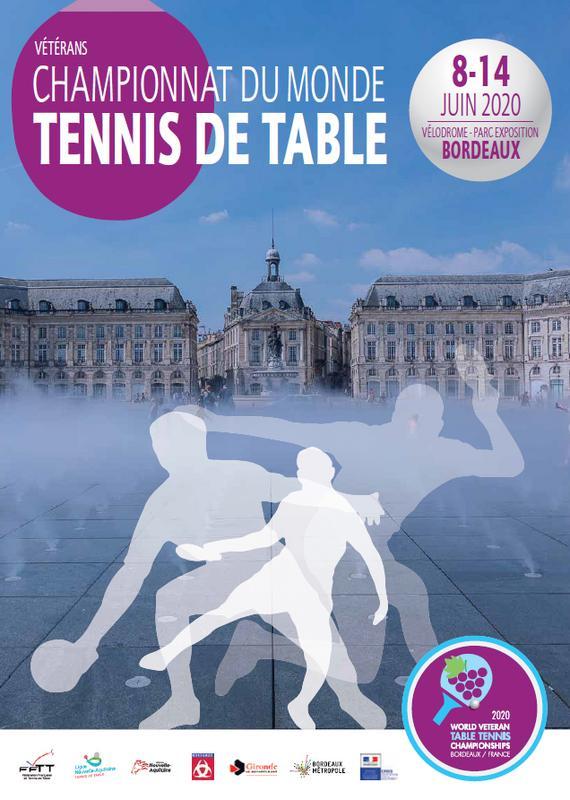 Bordeaux Accueillera Les Championnats Du Monde De Tennis De Table