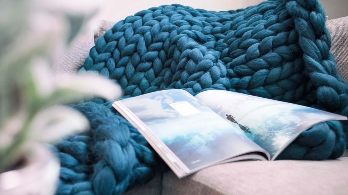 Cocooning : découvrez les maxi plaids en laine de mérinos made in chez nous