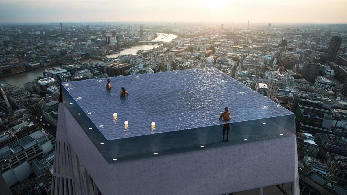 Insolite: une piscine-rooftop avec une vue à 360° va ouvrir à Londres