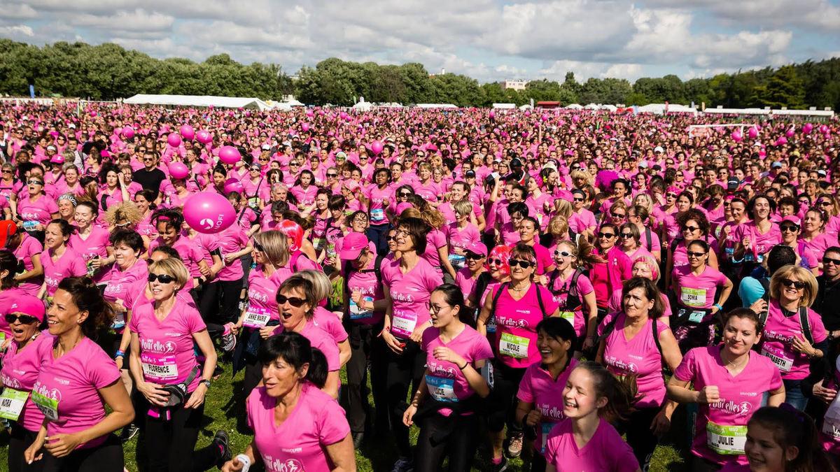 Courir Pour Elles : près de 20 000 femmes ont couru pour lutter contre le cancer à Lyon