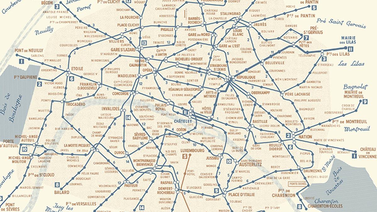 Voici la carte des stations de métro qui seront ouvertes toute la nuit