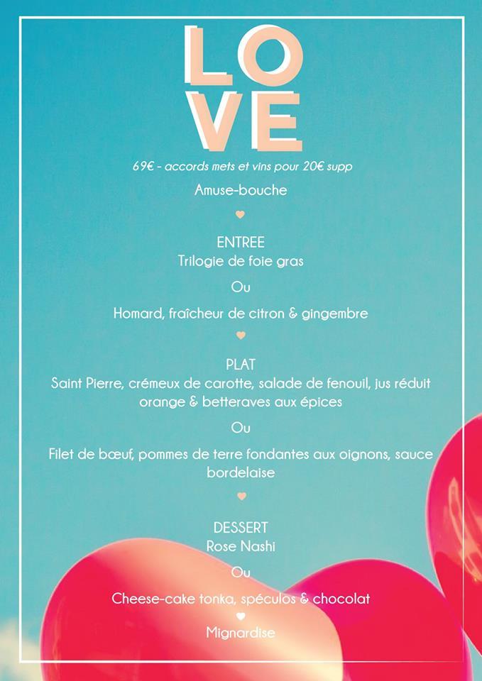 menu saint valentin vertigo nantes