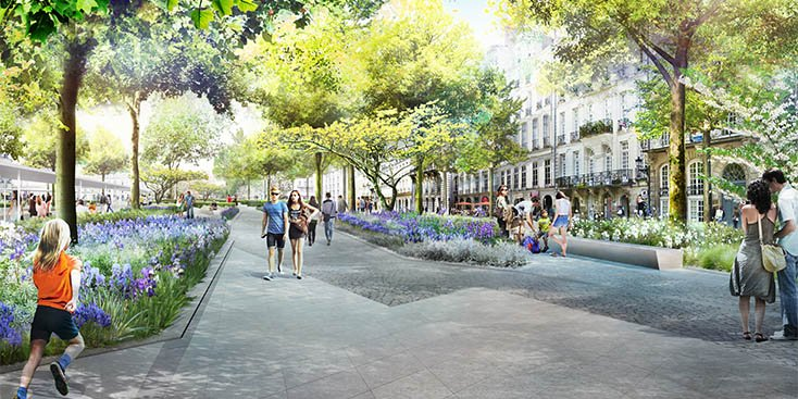 travaux place commerce nantes