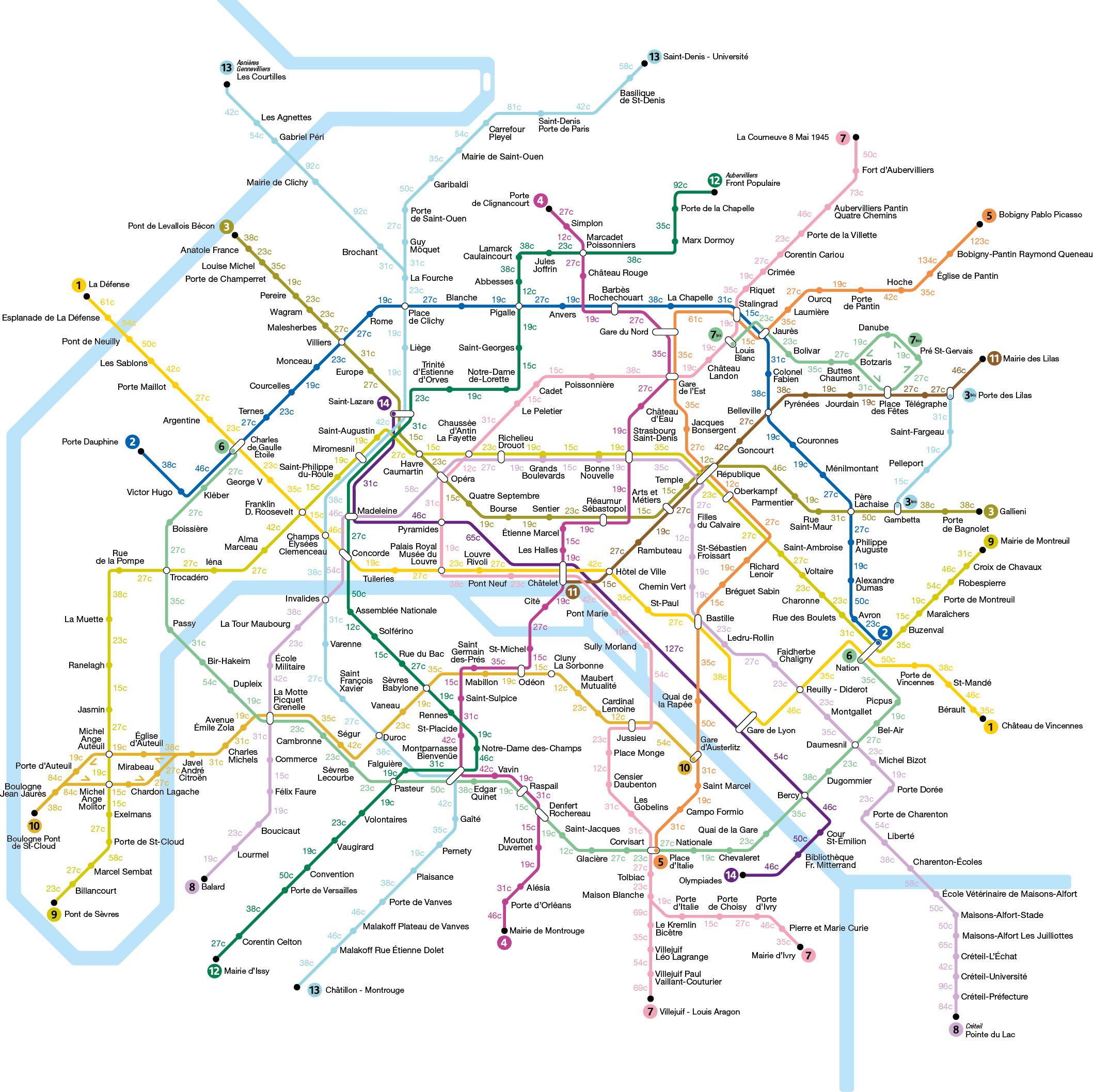 Greve La Carte Du Metro Parisien Des Calories Brulees