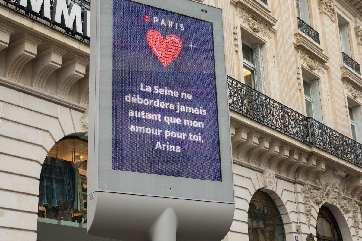 Saint-Valentin : Inscris ton mot damour sur les panneaux