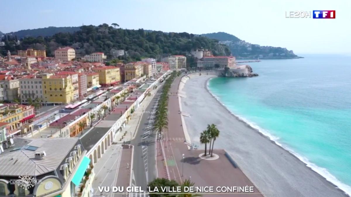 Une vidéo sublime de Nice vue du ciel et désertée pendant le confinement