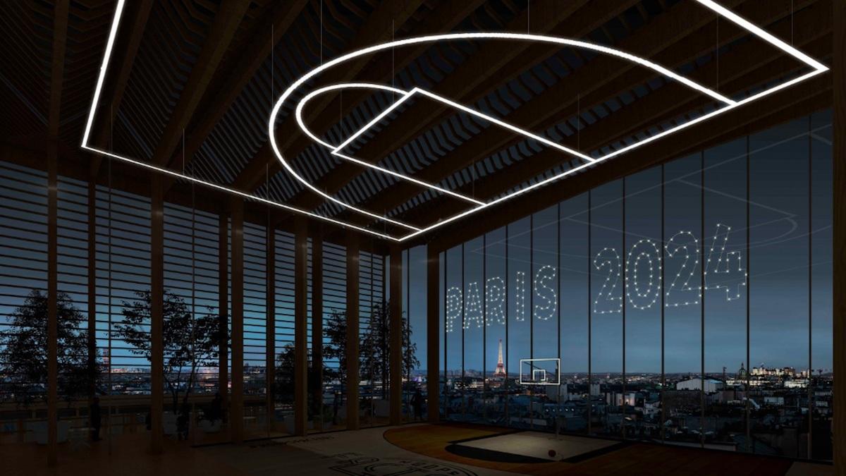 Paris 2024 : un rooftop terrain de basket avec vue sur tout Paris