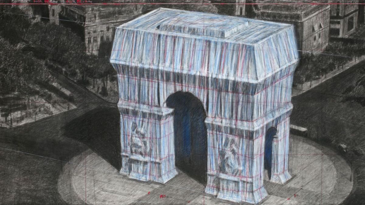 L'Arc de Triomphe va être complètement emballé par Christo