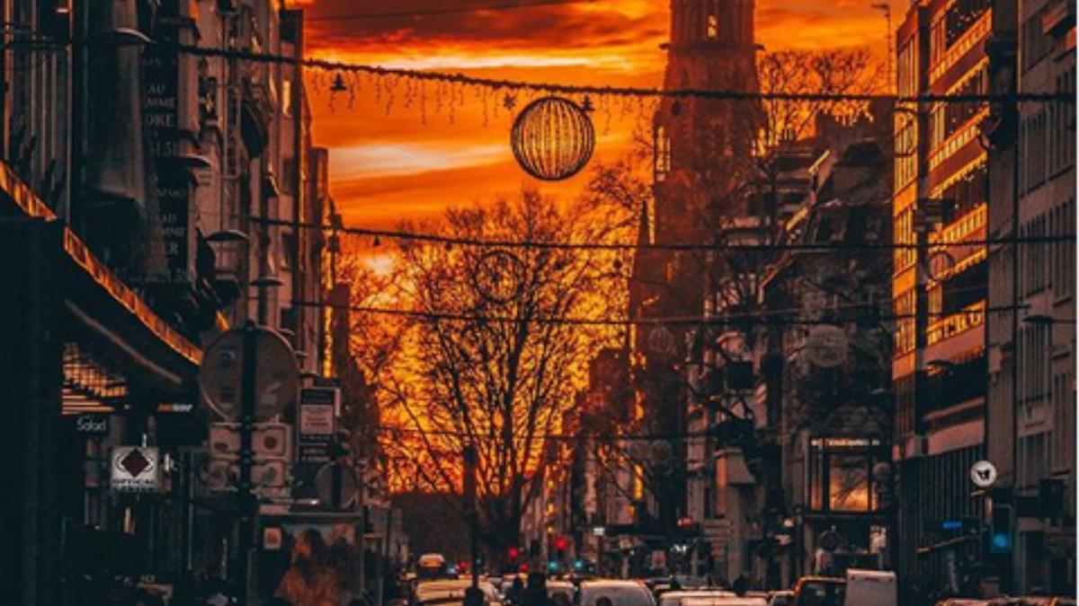 En images : les couchers de soleil les plus flamboyants de Lille