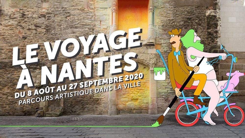 Le Théâtre Graslin transformé en cascade pour le Voyage à Nantes 2020
