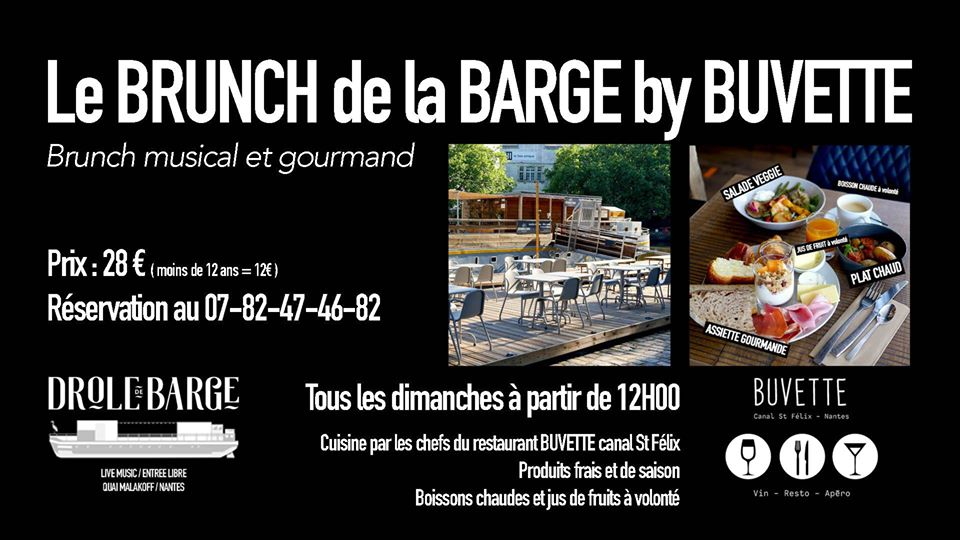 brunch drole de barge nantes