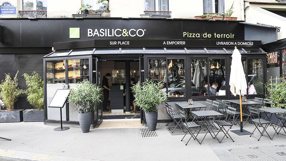 basilic & co pizzeria paris facade