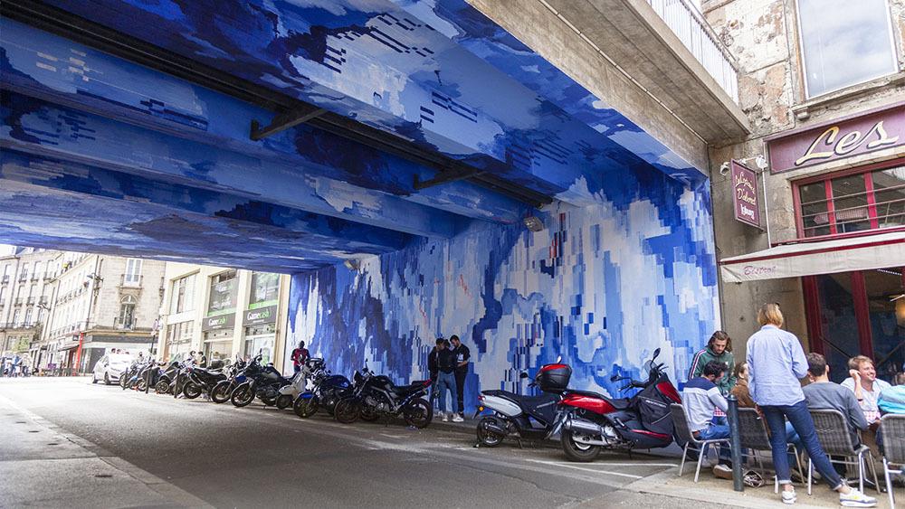 Street-art Nantes : le pont de l'Arche Sèche prend des couleurs