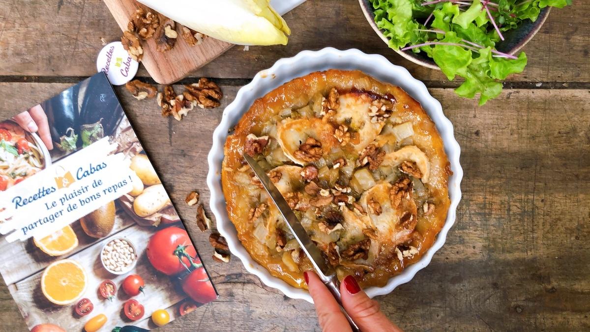 La recette délicieuse de la tarte tatin d'endives au fromage de chèvre et au miel