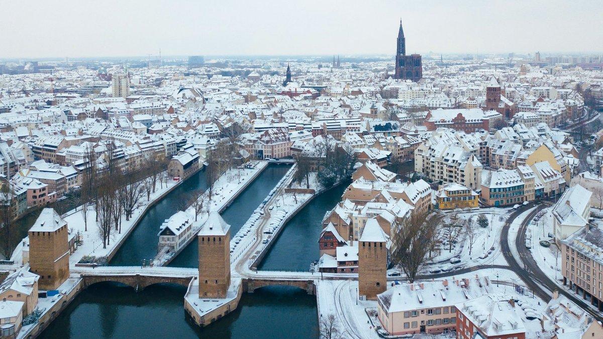 Les plus belles photos de la neige à Strasbourg et en Alsace