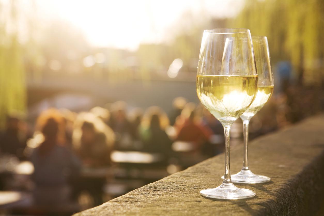 vin blanc soleil